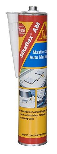 Sikaflex AM Auto-Marine, Mastic-colle carrosserie automobile, camping-car et bateau, 300ml, Blanc