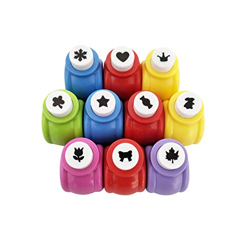 10 Pack Punch Craft Set, Colorful Crafts Hole Punch Shape, Hole Punch Shape Scrapbooking Supplies Shapes Hole Punch, Great for Crafting and Fun Projects
