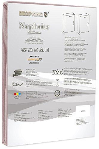DecoKing 19214 80×200-90×200 cm Spannbettlaken Cappuccino 100% Baumwolle Jersey Boxspringbett Spannbetttuch Bettlaken Betttuch beige Nephrite Collection - 3