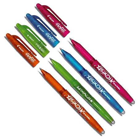 Pilot Pen Frixion Tintenroller (radierbar) 4 Stück farbig Sortiert, Fresh Colors, (1er Pack), 4