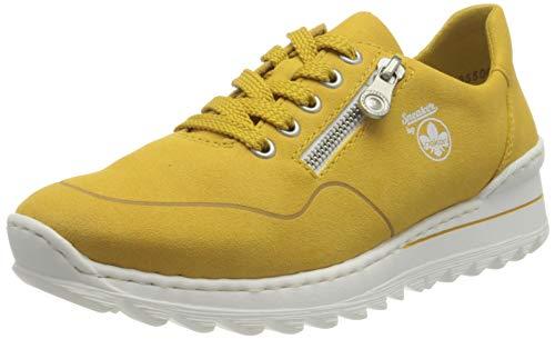 Rieker Damen M6901 Sneaker, gelb, 40 EU