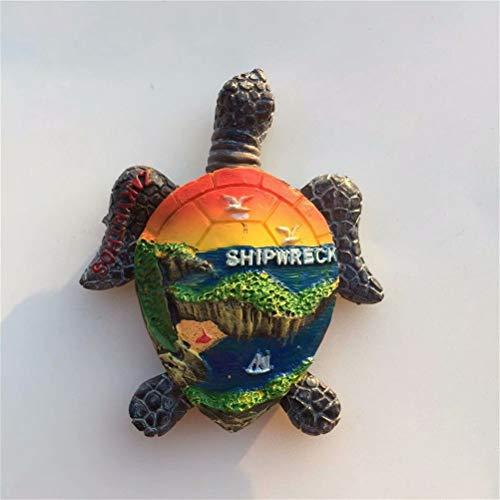 Turtle Paradise Bay Griechenland Kühlschrankmagnete für Kühlschrank Reise Souvenirs 3D Harz Magnet Lustige Aufkleber Home Küche Dekoration Handwerk Geschenke Sammlung
