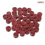 Huyiko 100 Pcs Enveloppe Joint Sceau Cire Rétro Octogone Perles DIY Décor Multicolore Timbres Pour Enveloppe