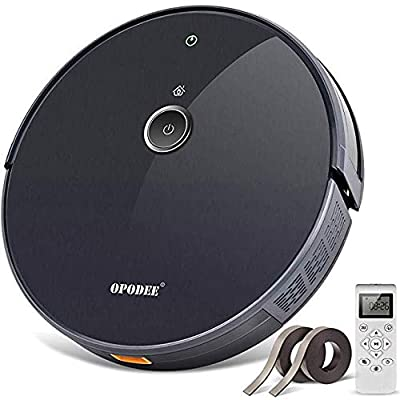 Robot Vacuum Cleaner, with 1800Pa Ultra Strong Suction, Smart Navigation, HEPA Filter to Purify Air, Self-Charging, Super Quiet, Robotic Pet Hair Cleaning, Ideal for Hard Floor, Mid-Pile Soft Carpets