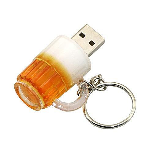 4GB Tazza di birra forma USB 2,0 Flash Drive USB Flash unità PenDrive Memorias chiavetta USB USB drive USB Flash disco pollice unità U disco pen drive USB Stick (Giallo)