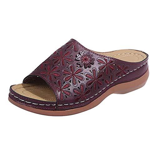 Sylar Unisex Verano Zapatillas de Playa Hombres Comodo Antideslizante Transpirable Mujeres,Zapatos de Mujer con tacón de cuña Suela Blanda