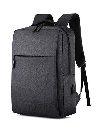 HAT YOU – Multifunktioneller Rucksack mit USB - Anschluss - 28x41x12 cm, Taschen:Schwarz