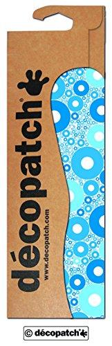 Decopatch Papier No. 588 (blau weiß Kreise, 395 x 298 mm) 3er Pack