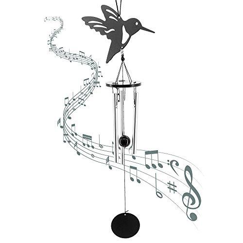 MoYouno Campanas de Viento de pájaro para jardín, Porche, Patio, Patio Trasero, decoración del hogar, pequeño Regalo de campanillas de Viento conmemorativas de Metal para Mascotas