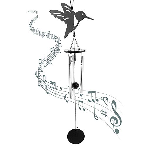 MoYouno Vogel Windspiele für Garten, Veranda, Terrasse, Hinterhof, Wohnkultur, kleines Metall Haustier Memorial Windspiele Geschenk