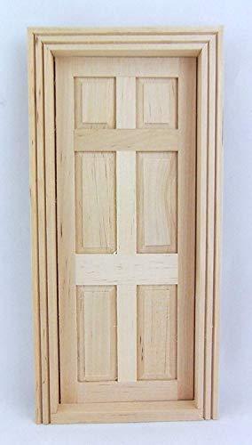The Components Co Constructeurs De Maison De Poupées Bricolage 1:12 Echelle Classique en Bois Miniature 6 Porte Intérieure