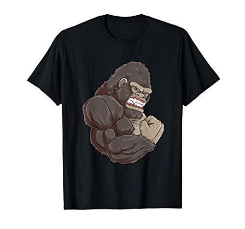 Gorila en el gimnasio - Entrenamiento de gimnasia muscular Camiseta