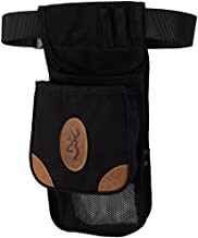 Browning, Lona, Canvas/Leather Large Deluxe Shell Pouch, Black/Brown