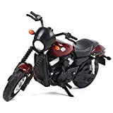 1:18 Modelo de motocicleta (Harley 2015 Street 750) Simulación estática Coche de fundición a presión, Material de aleación, Motocicleta de carretera, Coche de juguete, Colección de motocicletas Regalo