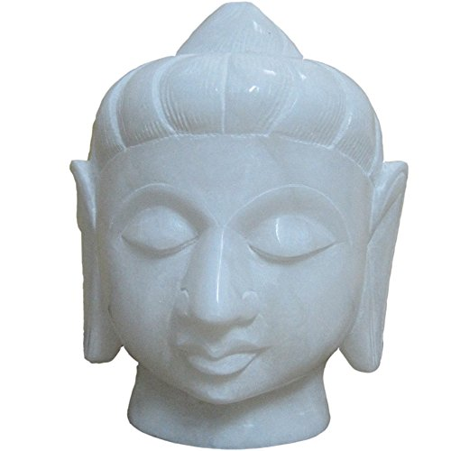 "5"" inch Alabaster Buddha head Handcarved Decor Size :5""inch Quantity : 1"