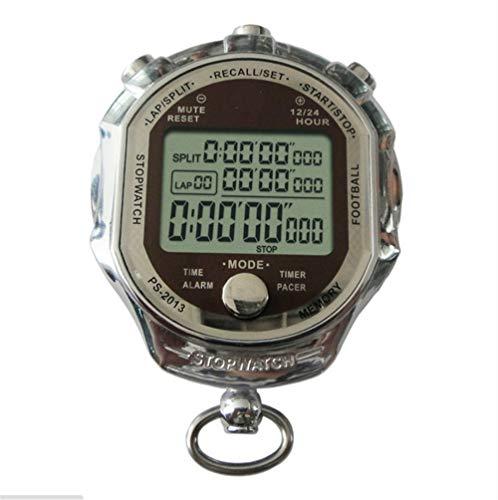 gdangel Cronómetro Deportivo Precisión Profesional LCD Contador Digital Temporizador Cronómetro De Metal Multifunción 1/1000 Segundo Cronómetro Deportivo