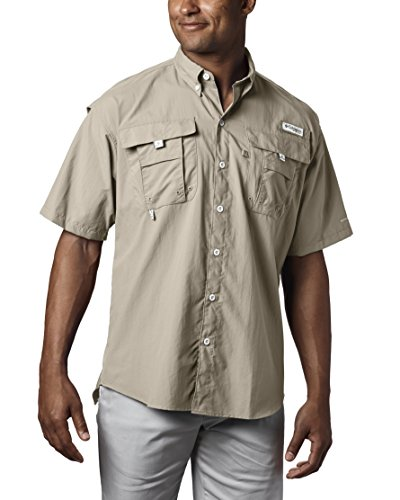 Columbia Men's Bahama II Short Sleeve Shirt, Fossil, Large