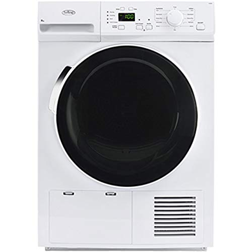 Belling FCD800 8kg B Rated 3 Temps Condenser Freestanding Tumble Dryer in White 444444342
