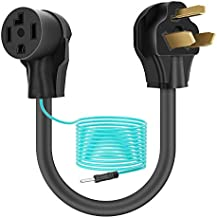 Dryer Adapter, Dryer Plug Cord 14-30R Female to 10-30P Male, 3 Prong to 4 Prong Dryer Plug Converter with Ground Wire, 30 Amp, 250V