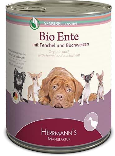Herrmann Dose Sensibel Bio-Ente Fenchel, Apfel und Buchweizen, 6er Pack (6 x 800 g)
