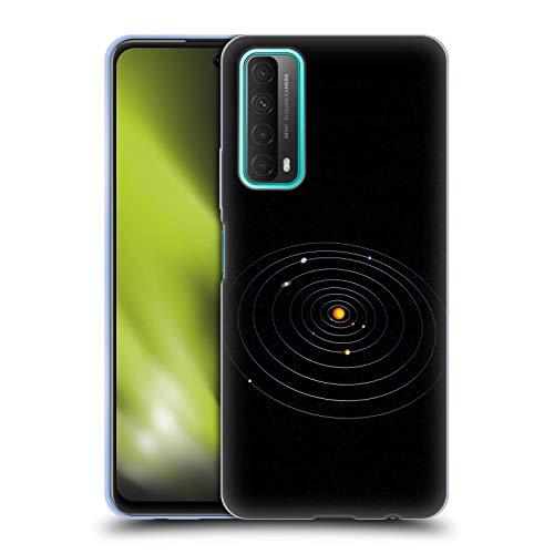 Head Case Designs Licenciado Oficialmente Simone Gatterwe Nuestro Sistema Solar Planetas Carcasa de Gel de Silicona Compatible con Huawei P Smart (2021)
