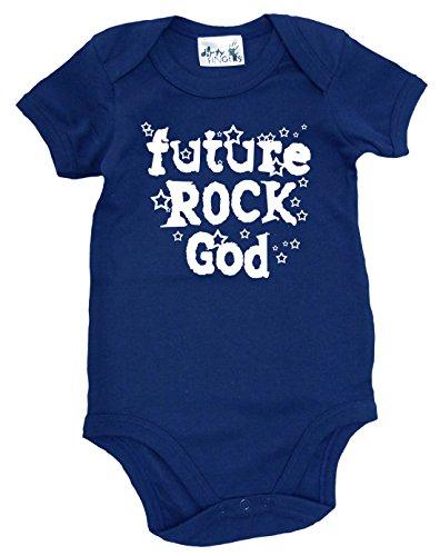 Dirty Fingers Future Rock Dieu, body bébé - Bleu - XXXXS
