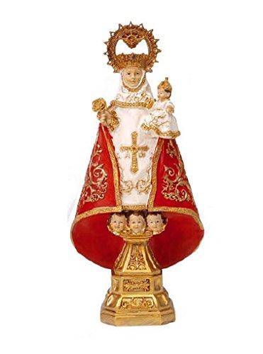 Figura Virgen de Covadonga de Resina de 22 cm con Caja de Regalo con la Historia de la Virgen