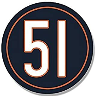 MAGNET Round #51 Chicago Bears Colors Magnet(dick butkus number 51) 3 x 4 inch