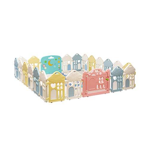 LIUFS-Clôture Clôture de Jeu pour Enfants (Taille : 20 Fences 1 gate 1 Toy Bar)