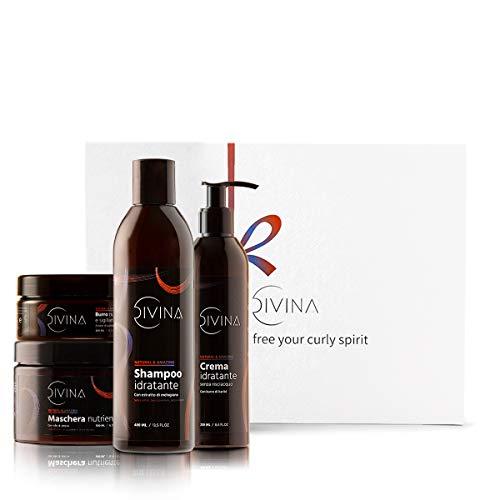 Kit de Hidratación y Protección de Alta Porosidad para cabello rizado y afro Natural & Amazing de DIVINA BLK, 4 productos incluidos, tratamiento protector y sellante completo
