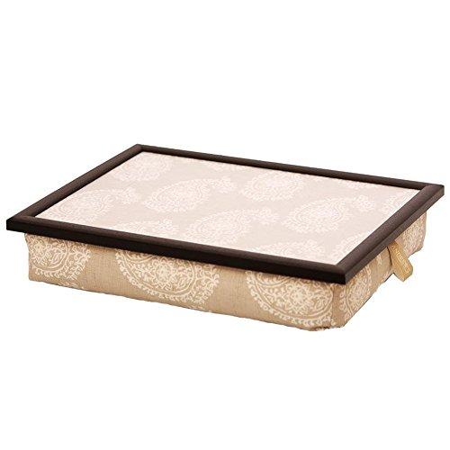 Andrew´s Knietablett Laptray mit Kissen Tablett Paisley Natur