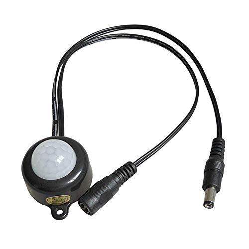 Infraroodsensor, Akozon kastkast Infraroodsensor Human Body Induction Switch Bewegingssensor DC5-24V voor automatische verlichting in gang Badkamer Boekenkast(2025 Black DC)