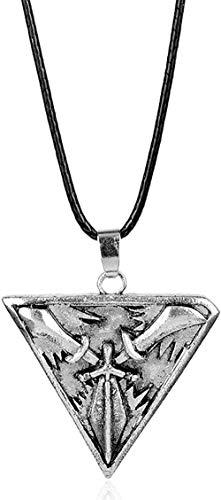 League of Trinity Force Collar Colgante de cuerda de cuero Collares Hombre Mujer Juegos Joyas