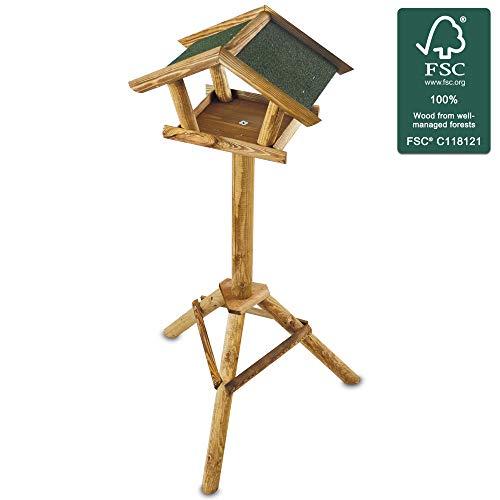 zooprinz stabiles und wetterfestes stehendes Vogelhaus für Wildvögel – Einfacher und schneller Aufbau – Aus nachhaltig angebautem FSC Holz – EIN schönes Zuhause für Vögel (Ohne Ablage)
