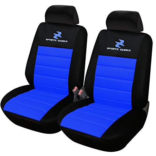 eSituro SCSC0074 2er Einzelsitzbezug universal Sitzbezüge für Auto Schonbezug Schoner Dicke gepolstert blau