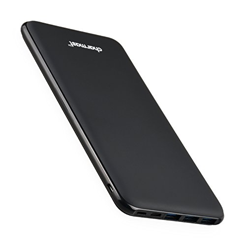 Charmast 26800mAh Powerbank Externer Akku Typ C Micro USB Slim Ladegerät mit 3 Eingängen 4 Ausgängen kompatibel mit iPhone 11/XS/X/8/7 MacBook iPad Nintendo Switch Samsung Huawei weitere Smartphone
