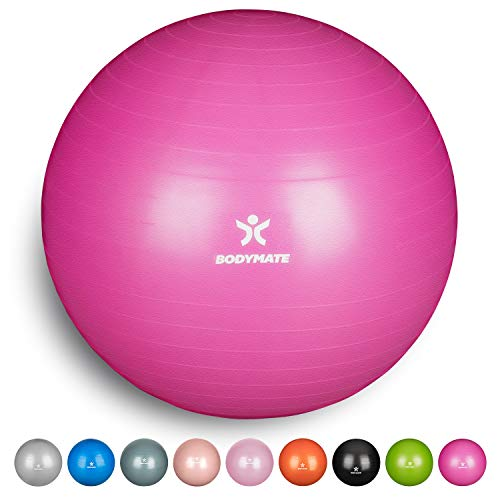 BODYMATE Exercise Ball - E-book with exercise guides included -...