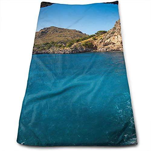 DLJIYZX Toallas de Mano Arco en Mallorca España Toalla de Cara Impresa Toallas de baño Suaves Altamente absorbentes Multiuso 30X70CM