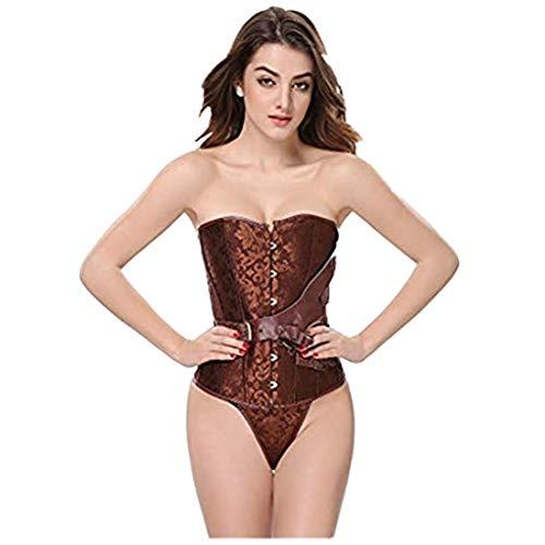 POHOK Damen Korsagen und Bustiers Damen-Body-Shaping-Hosen für schlanke Bauchkorsett-Korsett-Körperformung Shapewear Bauch Slips(L,Braun)