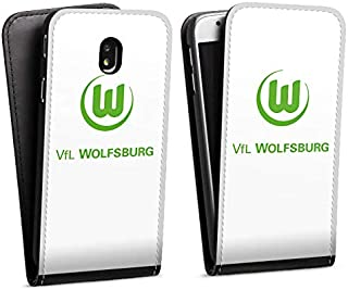 DeinDesign Flip Case kompatibel mit Samsung Galaxy J7 2017 Tasche Hülle VFL Wolfsburg Offizielles Lizenzprodukt Logo