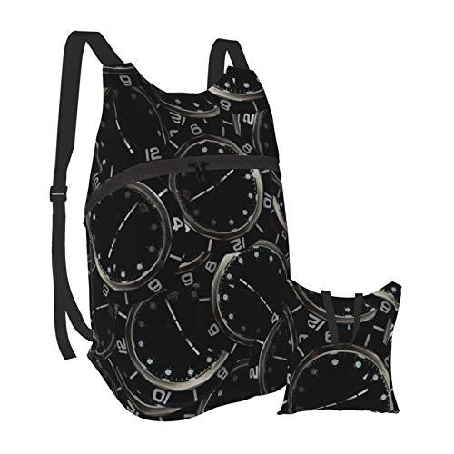 Vintage Reloj Reloj Reloj Ligero Mochila Plegable Senderismo Daypack Bolsa Impermeable Para...