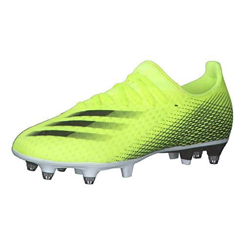 adidas X GHOSTED.3 SG, Zapatillas de fútbol Hombre, Amasol/NEGBÁS/AZUREA, 39 1/3 EU