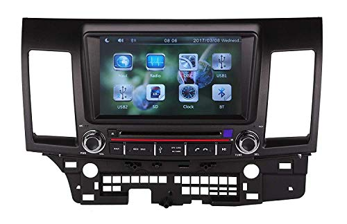 8 inch Touch Screen in Dash Car GPS Navigation System for Mitsubishi Lancer 2008-2013 DVD Player with Bluetooth/WiFi/SWC/Backup Camera/North America Map