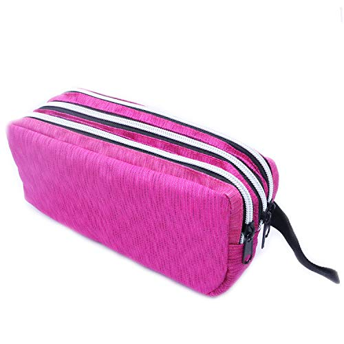 Fozirut Large Capacity Pencil Case, Pencil Pouch Pen Bag Aesthetic School Supplies, Big Pencil Cases Stationery Bag Organizer for Teen Girls Boys College Students and Adults – Pink Pencil Case