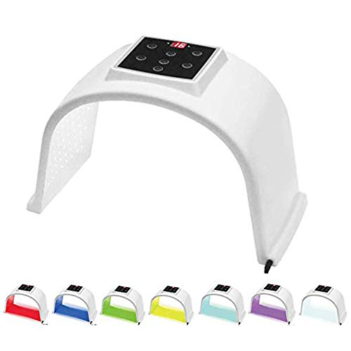 LED Fototerapia luce viso dispositivo di bellezza 7 colori fotone terapia spot eliminare l'acne anti-rughe fotodinamica cura della pelle PDT macchina per la cura...