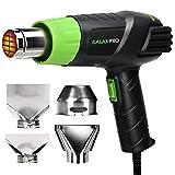 GALAX PRO Pistola Termica, Pistola ad Aria Calda 2000W 230V 50Hz, (I: 350 °C 250L/min, II: 550 °C 500L/min) Temperatura Regolabile del Flusso d'aria con 4 Ugelli, Doppia Protezione
