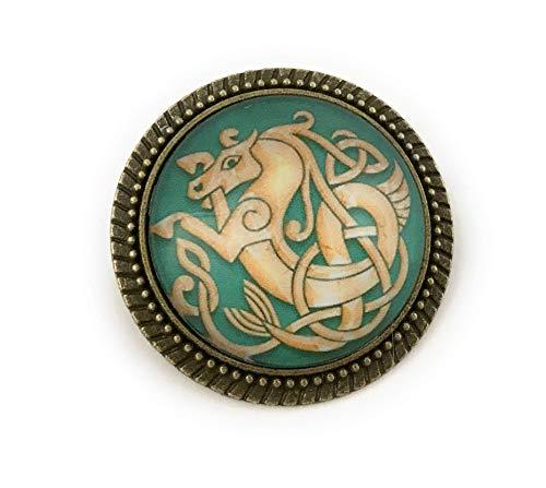 Celtic Seahorse Pin - Handmade Brooch