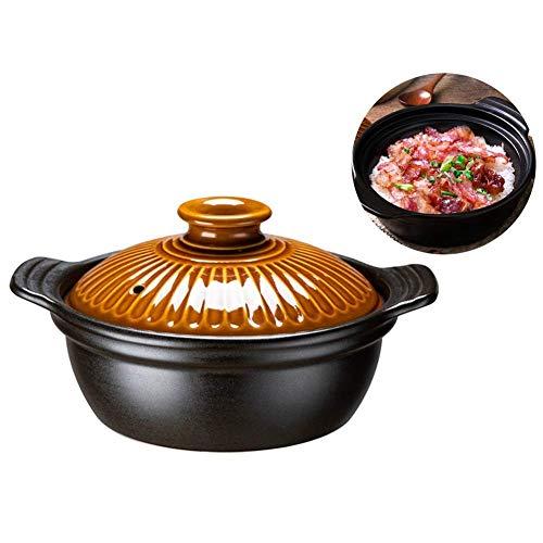 Plato para cazuela Olla de Sopa doméstica Cazuela de cerámica para Estufa de Gas Cocina Utensilios de Cocina (Tamaño: 1200ML)