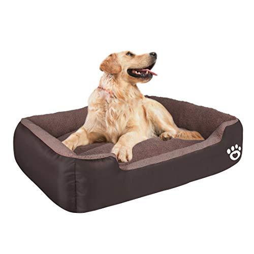 HEGCOIIE - Cama para perros pequeños, medianos y grandes, sofá/cama lavable para mascotas, cama para gatos, supersuave y cálida, fabricada con tela Oxford impermeable