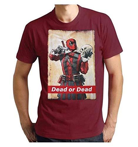 Deadpool T-Shirt Camiseta, Burdeos, L...